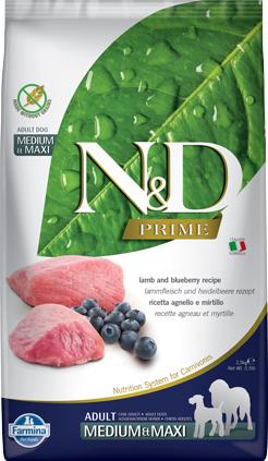 N&D Prime Dog Lamb & Blueberry Adult Medium & Maxi